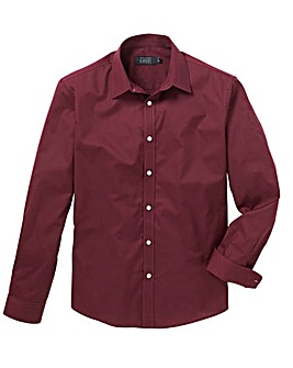 Wine Long Sleeve Formal Shirt Regular