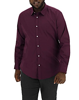 Wine Long Sleeve Formal Shirt Long