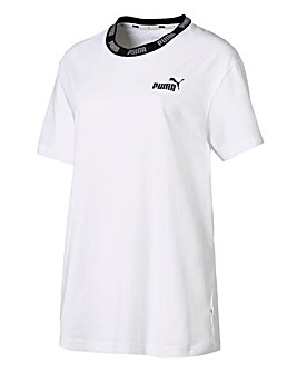Puma Ladies White Amplified T-Shirt