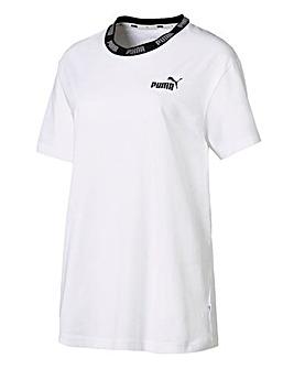 Puma Ladies White Amplified T-Shirt