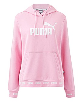 Puma Ladies Pink Amplified Tape Hoodie