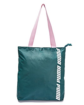 Puma Ladies Green Core Shopper
