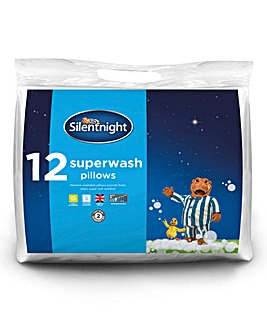 Silentnight Pack 12 Superwash Pillows