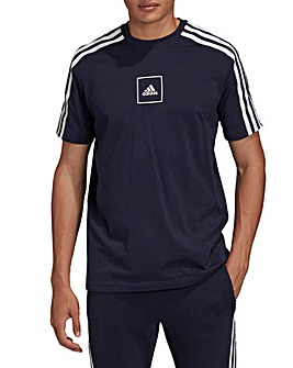 adidas 3 Stripe Tape T-Shirt