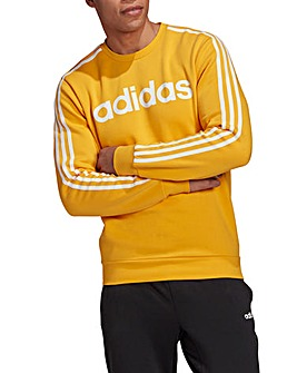 adidas 3 Stripe Crewneck Fleece