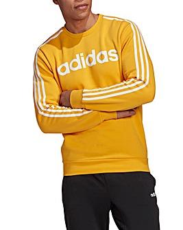 adidas 3 Stripe Crewneck Fleece