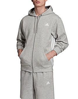 adidas Must Have 3 Stripe Zip Hoodie