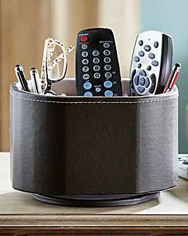 Faux Leather Remote Carousel