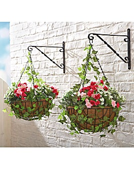Roses Ready Made Hanging Basket