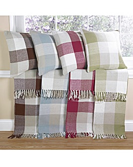 Country Check Cushion Covers Pack 4