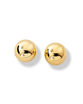 9 Carat Gold Medium Ball Stud Earrings