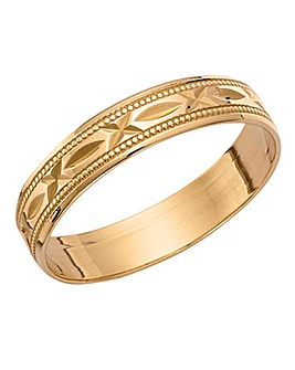 9ct Gold Ladies Wedding Band