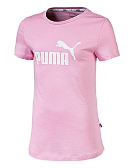 Puma Girls Pink Essential Logo T-Shirt