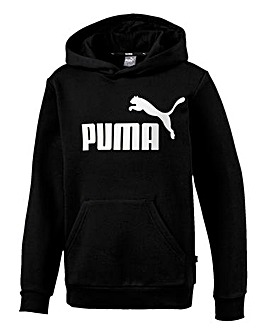Puma Boys Black Essential Overhead Hoody