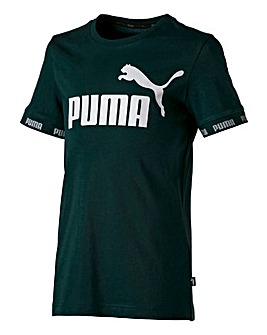 Puma Boys Green Amplified T-Shirt
