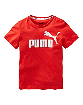 Puma Boys Red Essential Logo T-Shirt