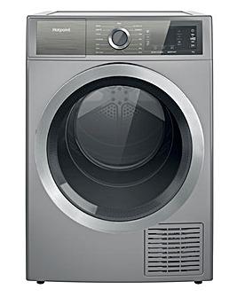 Hotpoint H8 D94SB UK 9kg Heat Pump Tumble Dryer - Silver
