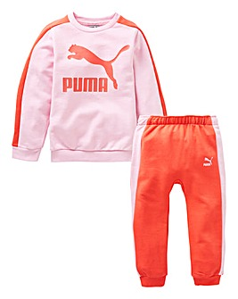 Puma Girls Minicats Crew Sweat Tracksuit