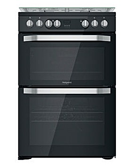 Hotpoint HDM67G9C2CB/UK Dual Fuel Double Cooker - Black