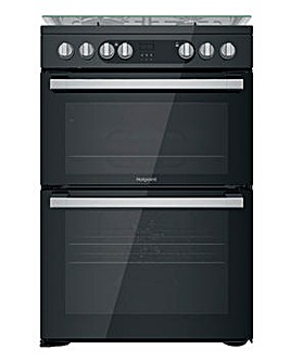 Hotpoint HDM67G9C2CSB/UK Dual Fuel Double Cooker - Black