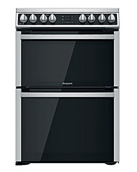 Hotpoint HDM67V8D2CX/UK Electric Double Cooker - Stainless Steel