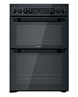 Hotpoint HDM67V92HCB/UK Electric Double Cooker - Black