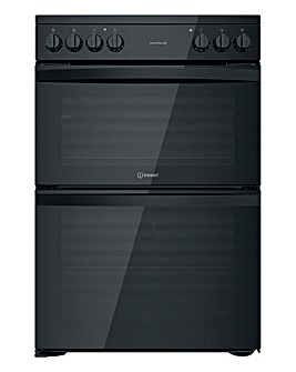 Indesit ID67V9KMB/UK Electric Double Cooker - Black