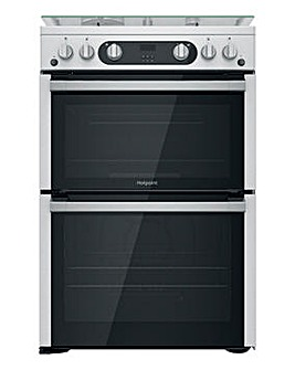 Hotpoint HDM67G0C2CX/UK 60cm Gas Double Cooker + INSTALLATION