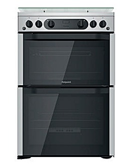 Hotpoint HDM67G0CCX/UK 60cm Gas Double Cooker + INSTALLATION