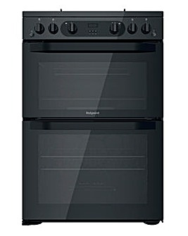 Hotpoint HDM67G0CMB/UK 60cm Gas Double Cooker + INSTALLATION
