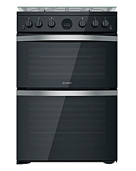 Indesit ID67G0MCB/UK 60cm Gas Double Cooker + INSTALLATION