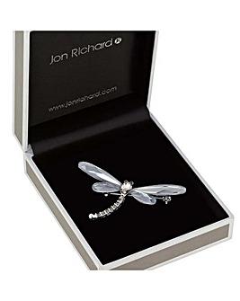 Jon Richard Crystal Dragonfly Brooch