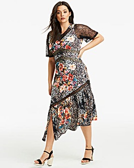Joanna Hope Black Print Maxi Dress