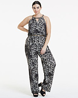 Joanna Hope Chain Print Jumpsuit