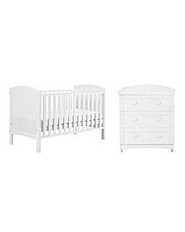 East Coast Alby 2 Piece Roomset (Cotbed & Dresser)