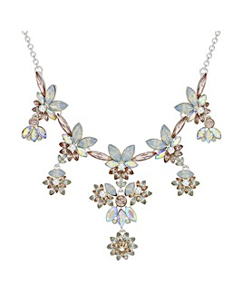 Mood Crystal Floral Cluster Necklace