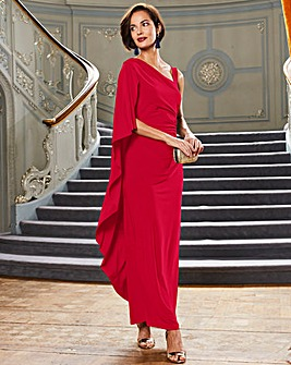 Joanna Hope Red Drape Maxi Dress
