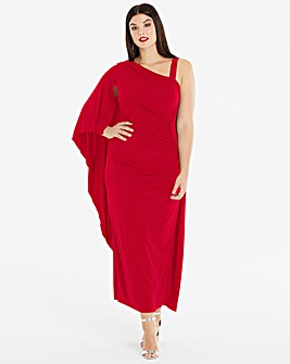 Joanna Hope Drape Shoulder Maxi Dress