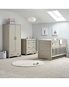 Obaby Nika 3 Piece Roomset (Cotbed, Dresser & Wardrobe)