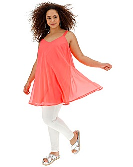 Joanna Hope Neon Coral Swing Cami
