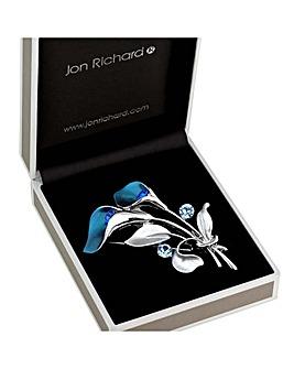 Jon Richard Crystal Bouquet Brooch