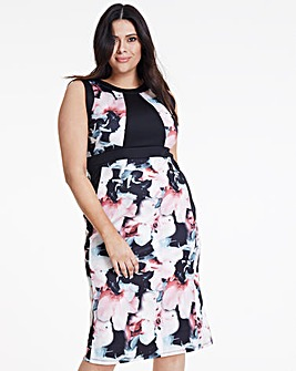 Joanna Hope Floral Scuba Dress