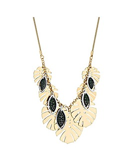 Mood Palm Leaf Drop Necklace