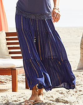 Joanna Hope Crinkle Tiered Maxi Skirt