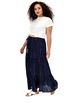 Joanna Hope Crinkle Tiered Skirt