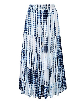 Joanna Hope Tie Dye Tiered Maxi Skirt