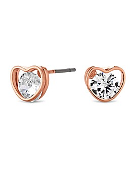 Jon Richard Cubic Zirconia Heart Earring