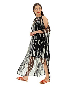 Joanna Hope Zebra Kaftan Maxi Dress