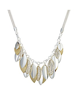 Mood Pave Leaf Droplet Necklace