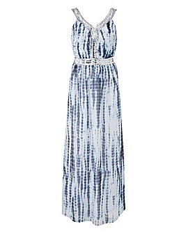 Joanna Hope Embellished Tie Dye Dress